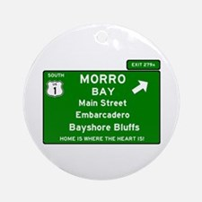 HIGHWAY 1 SIGN - CALIFORNIA - MORRO Round Ornament