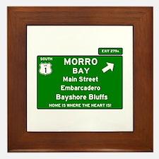 HIGHWAY 1 SIGN - CALIFORNIA - MORRO BA Framed Tile