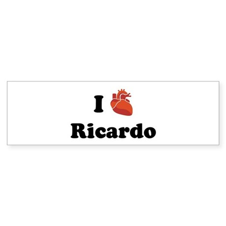 I (Heart) Ricardo Bumper Sticker