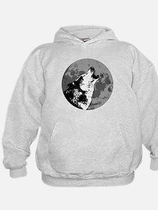 Funny Wolf art Hoodie