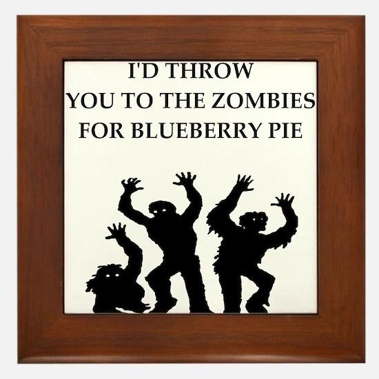 blueberry pie Framed Tile