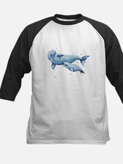 Beluga Whale and Baby Baseball Jersey