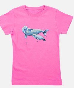 Beluga Whale and Baby Girl's Tee