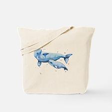 Beluga Whale and Baby Tote Bag
