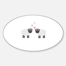Sheeps in love Decal
