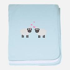 Sheeps in love baby blanket