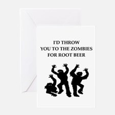 root beer Greeting Cards