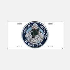 FBI Weapons Instructor Aluminum License Plate