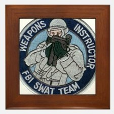 FBI Weapons Instructor Framed Tile