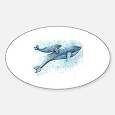 Blue Whale and Baby Decal