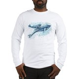Blue whale Long Sleeve T-shirts