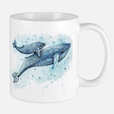 Blue Whale and Baby Mugs