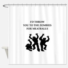 Zombie meat joke on gifts and t-shirts. Shower Cur