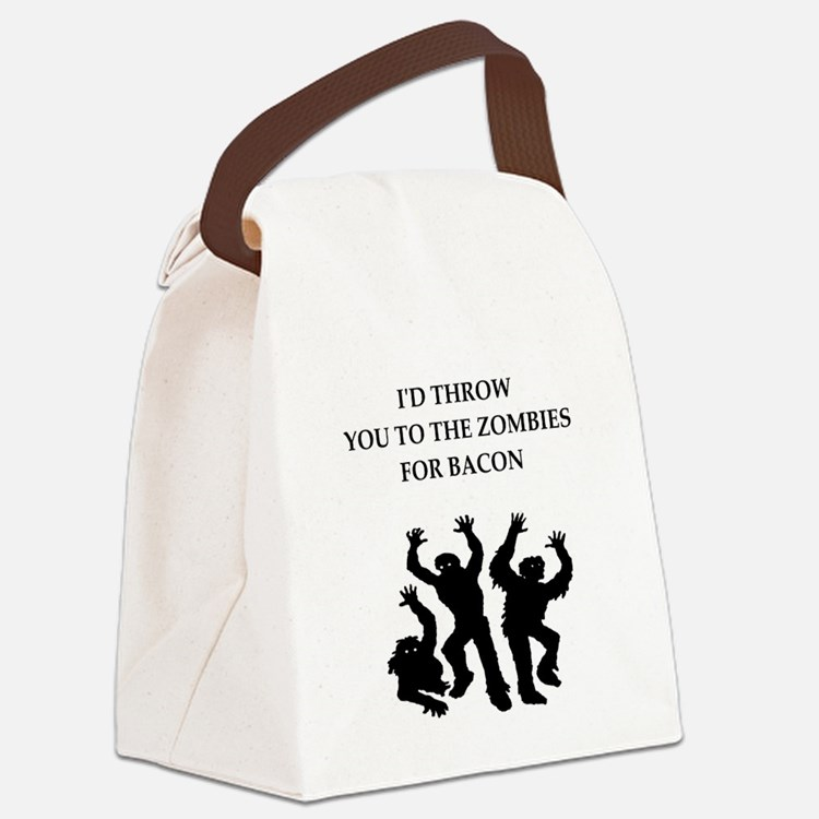 bacon Canvas Lunch Bag