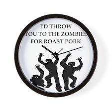 roast pork Wall Clock