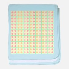 Grid and dots baby blanket
