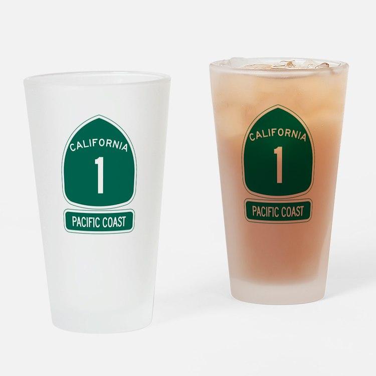 California 1 Pacific Coast Drinking Glass