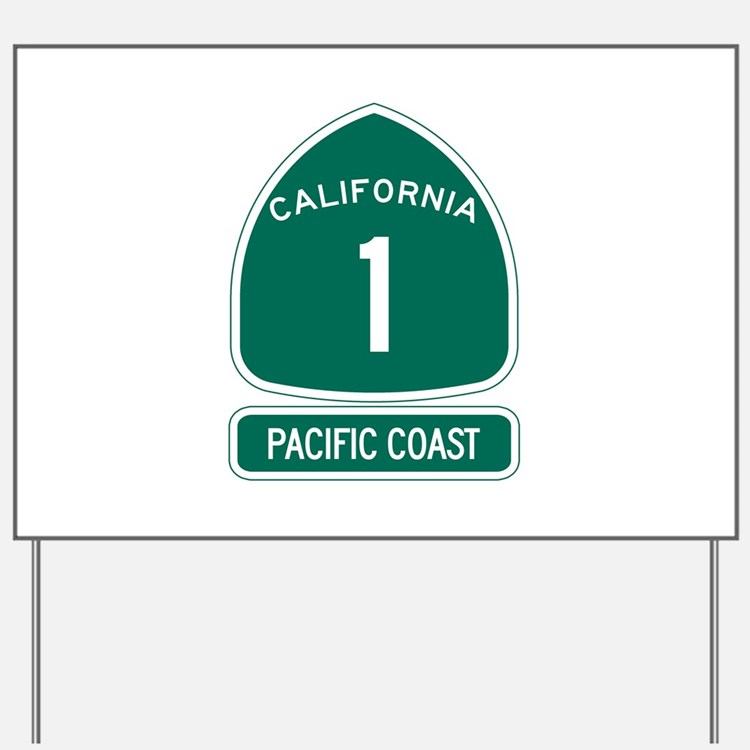 California 1 Pacific Coast Yard Sign