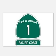 California 1 Pacific Coas Postcards (Package of 8)