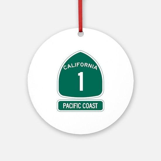 California 1 Pacific Coast Round Ornament