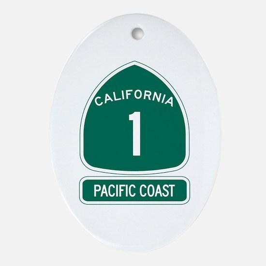California 1 Pacific Coast Oval Ornament