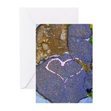 Unique (heart) Greeting Cards (Pk of 10)