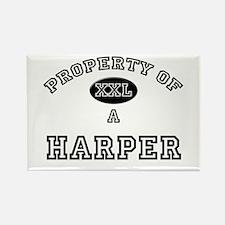 Property of a Harper Rectangle Magnet