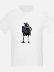 Black Winter Crow T-Shirt
