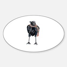 Black Winter Crow Decal