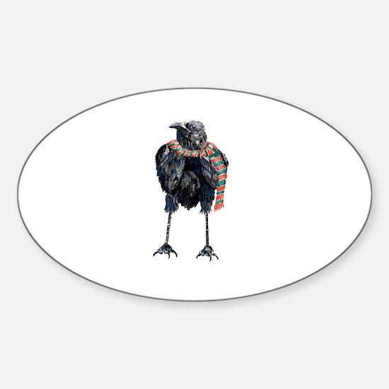Black Winter Crow Decal