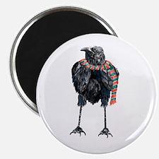 Black Winter Crow Magnets
