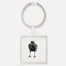 Black Winter Crow Keychains