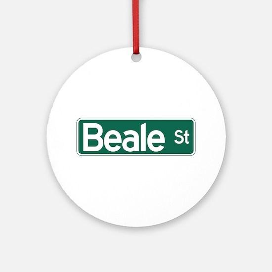 Beale St., Memphis, TN Round Ornament