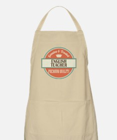 english teacher vintage logo Apron