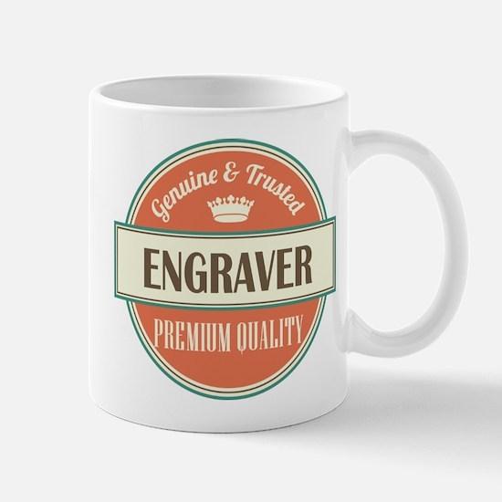 engraver vintage logo Mug