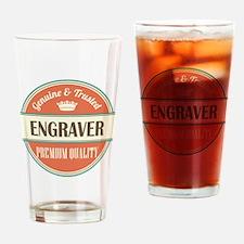 engraver vintage logo Drinking Glass