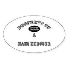 Property of a Hair Dresser Oval Decal