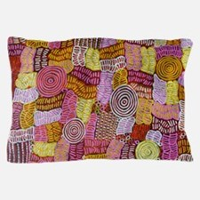 AUSTRALIAN ART CIRCLES AND LINES Pillow Case