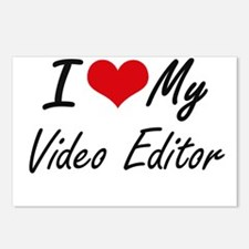 I love my Video Editor Postcards (Package of 8)