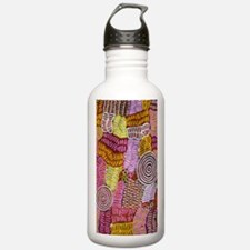 AUSTRALIAN ART CIRCLES AND LINES Water Bottle