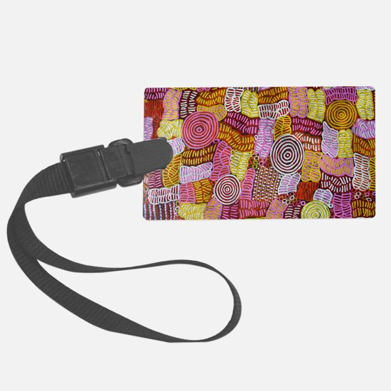 AUSTRALIAN ART CIRCLES AND LINES Luggage Tag