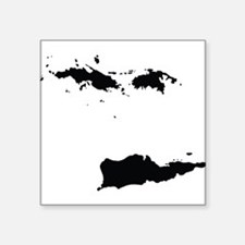 US Virgin Islands Silhouette Sticker