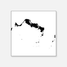 Turks and Caicos Islands Silhouette Sticker