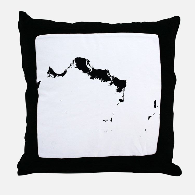 Turks and Caicos Islands Silhouette Throw Pillow