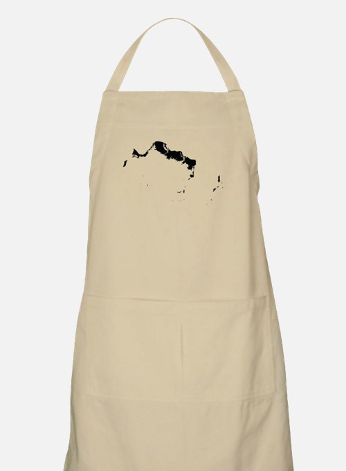 Turks and Caicos Islands Silhouette Apron