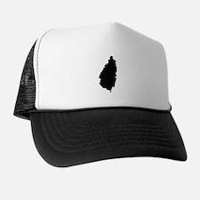 Saint Lucia Silhouette Trucker Hat