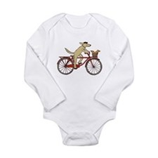 Funny Bicycle Long Sleeve Infant Bodysuit