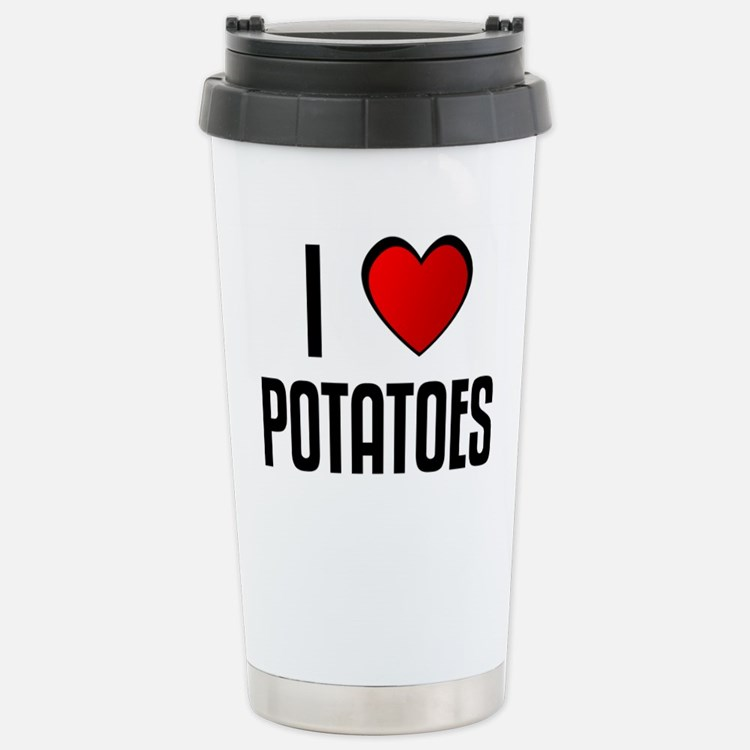 Cute I heart potatoes Travel Mug