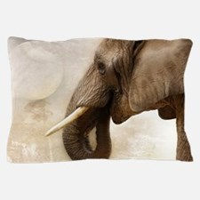 Cool White graphic elephant Pillow Case