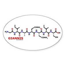 Giannis name molecule Oval Decal